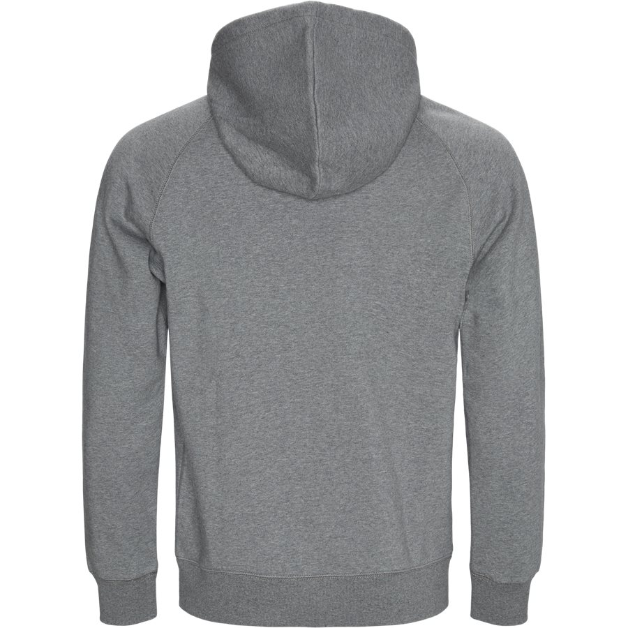 HOODED CHASE I026384 - Hooded Chase Sweat - Sweatshirts - Regular - D. GREY HTR/GOLD - 2
